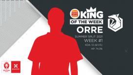 Orre (Sector One) is de eerste Burger King King of the Week