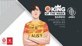 Bardo haalt de Burger King, King of the Week award binnen