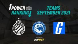 CS:GO Benelux Power Ranking Teams – September 2021