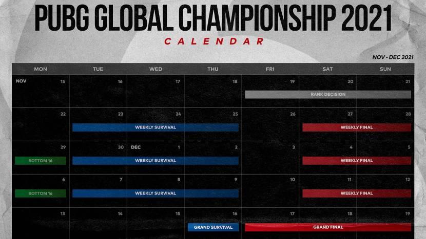 PUBG Global Championship op 19 november van start
