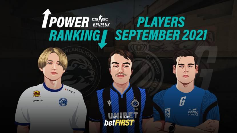 Power Ranking Benelux Spelers – September 2021