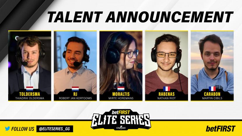 Dit zijn de casters van de Betfirst Elite Series