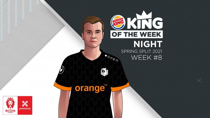 Night wint de Burger King, King of the Week en is klaar voor play-offs