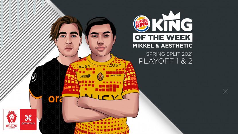 King of the Series van de eerste week van de Belgian League play-offs