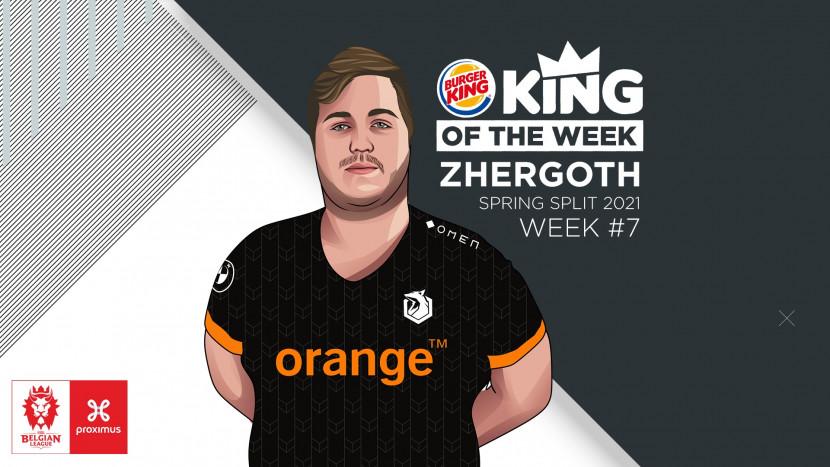Zhergoth haalt de Burger King King of the Week binnen